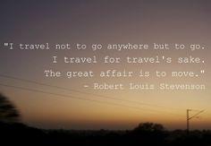 Travel for travels sake