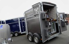 Thirsty equestrians can now drink at horse trailer bars