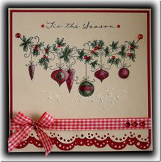 bev-rochester-lotv-christmas-baubles - Love the design and the matting with the bottom edge punching.