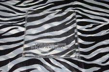 ZEBRA PRINT PLASTIC TABLE COVER [54in x 84in] SAFARI TABLECLOTH PARTY PROP