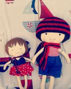 Who needs a superhero when you have a brother? #lalobastudio #etsy #dolls #dollmaker #nautical #sailor #navy #nauticalstyle #nauticaldecor #ship #anchortattoo #sailorboat #brother #sister #littlesister #crochet #blue #red #playmatters #craft #supporthandmade #ragdolls #playset #roomdecor #kidsroom #kidstoy #movember #movember2015  #dollsanddaydreams