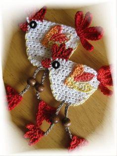 Crochet PATTERN Applique Little Hen by NellagoldsCrocheting