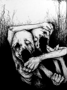 scary depression suicidal suicide creepy horror gore religion hate crazy dark murder mad monster satan war evil darkness violence devil Black Metal grotesque dark art madness Darkthrone blood painting don't do that at home Creepy Horror, Creepy Art, Arte Horror, Horror Art, Fantasy Angel, Scary Drawings, Pencil Drawings, Dark Artwork, Dark Art Paintings