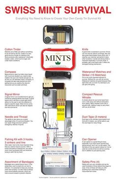 How to make your own Altoid tin survival kit. Survival Life is the best source for survival tips, gear and off the grid living. -- Click image for more details. Survival Life, Survival Food, Homestead Survival, Wilderness Survival, Camping Survival, Outdoor Survival, Survival Prepping, Emergency Preparedness, Survival Skills