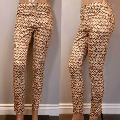 NWT Maurie & Eve Jolie Jean Pants Womens US Size 4 Tan Brown Skinny Weave Print #MaurieEve #DressPants #PartyCocktail Jeans Pants, Dress Pants, Maurie Eve, Weave, Pants For Women, Skinny, Brown, Fashion, Flare Leg Jeans