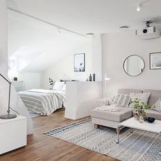 Living Small? No Worries. Use A Pretty Rug To Create A Room In A