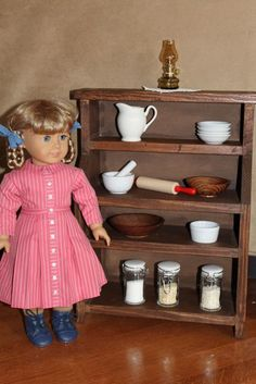 """18"""" Doll: Dining Room Hutch Tutorial"""