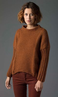 Level 2 Knit Pullover - Patterns - Lion Brand Yarn