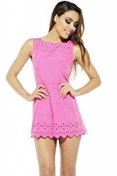 Cute pink playsuit