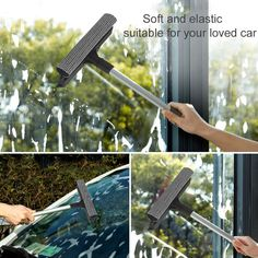 Universal Car Windshield Glass Wiper Universal Detachable Double Surface Vehicle Window Wizard Washing Tool Cleaner Hot