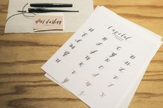 Calligraphy & Lettering Workshop with Suzy Lee | Photos: Heidi Lee