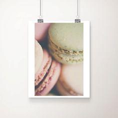 macaron photograph food photography macaron print french decor kitchen wall art paris print pink home decor mint wall art