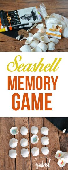 Use shells from the beach (or the craft store) to make an easy DIY memory matching game for kids! Use shapes, letters, or colors to help kids learn or just for fun!