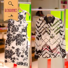 Essa tendência do preto+branco não tem hora pra acabar!   Nosso achadinho de hoje está na Lojas Gregory! Um vestido florido lindo, com um corte que cai muito bem e uma camisa de botão com estampa geométrica são nossas dicas de hoje.   Amamos!