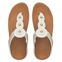 c1a3e9dc04f4 FitFlop Boho™ Leather Urban White Studded Sandals
