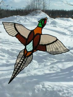 Items similar to pheasant, stained glass suncatcher on Etsy Stained Glass Birds, Stained Glass Suncatchers, Stained Glass Crafts, Faux Stained Glass, Stained Glass Designs, Stained Glass Patterns, Leaded Glass, Stained Glass Windows, Mosaic Glass