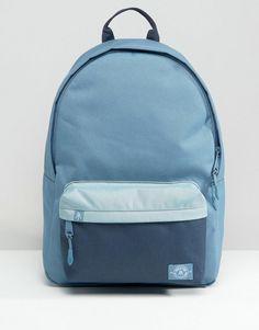 Parkland | Parkland Vintage Backpack In Blue Color Block 25L at ASOS