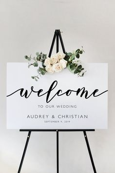 Modern Script Wedding Welcome Sign Template, Ceremony Sign Reception Sign Printa. - Modern Script Wedding Welcome Sign Template, Ceremony Sign Reception Sign Printable, Instant Downlo - Ceremony Signs, Wedding Ceremony, Sign Templates, Wedding Welcome Signs, Diy Wedding Signs, Wedding Signage, Wedding Fonts, Wedding Bouquets, Wedding Favors