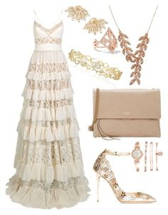 """""""summer wedding guest"""" by annisazatadiny on Polyvore featuring Jimmy Choo, Lanvin, Elie Saab, Anne Klein, Sutra, Sidney Chung, Carbon & Hyde and Effy Jewelry"""