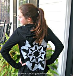 Stenciled Hoodie Refashion... {From the Vault} - Uncommon Designs...