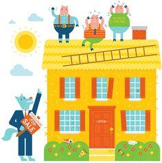 Real Simple Mortgage Debt - Mikey Burton / Designy Illustration