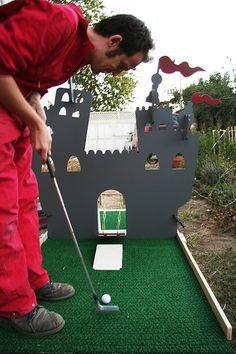 Golf Party Games, Mini Golf Games, Putt Putt Golf, Outside Games, Crazy Golf, Kids Golf, Miniature Golf, Fall Fest, Carnival Games