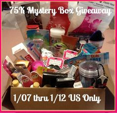 YAY! It's a Mystery Box & Hidden Treasure Candle 75k Milestone #giveaway! ends 1/12 US only