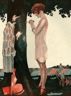 Illustration by George Leonnec For La Vie Parisienne 1920s