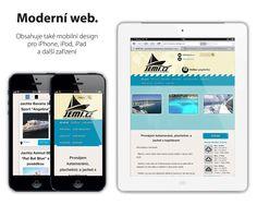 New website for www.jemi.cz with mobile responsive design. Works on all devices like iPhone, iPad. http://viktor.karasek.cz/webdesign/jemi-cz-pronajem-lodi