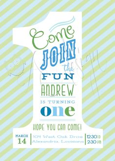 Boys First Birthday Invitation I like this but wanna add Jameson's pics