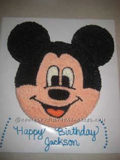 Cool Mickey Mouse Birthday Cake... This website is the Pinterest of birthday cake ideas