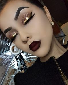 Gorgeous Makeup Ideas My Top Glam Makeup, Gold Eye Makeup, Kiss Makeup, Cute Makeup, Gorgeous Makeup, Makeup Tips, Beauty Makeup, Hair Makeup, Makeup Ideas