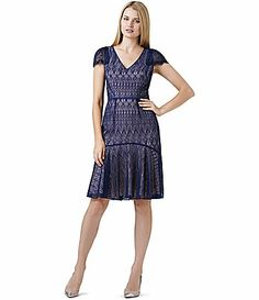 ef1fb8fec4a Adrianna Papell Vintage Lace FitandFlare Dress  Dillards Lace Mermaid