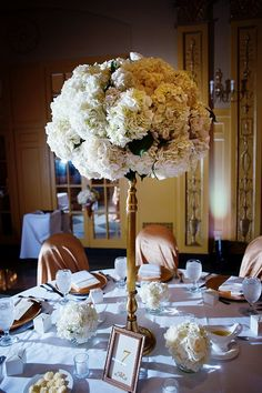 tall centerpieces - Love this shape in whites, pale pinks, mint greens, succulents etc