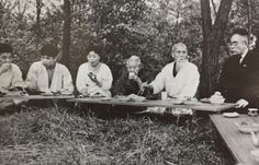 """Hakuro Kohinata, the Manchurian """"King of Mounted Bandits"""" and an agent for the Japanese secret police, with Aikido Founder Morihei Ueshiba and his wife Hatsu. He also appeared in a photo in """"Interview with Aikido Shihan Yasuo Kobayashi – Part 1"""", on the Aikido Sangenkai blog:  http://www.aikidosangenkai.org/blog/interview-aikido-shihan-yasuo-kobayashi-part-1/"""
