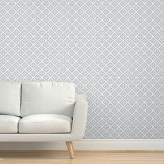 Geometric Wallpaper - Light Gray Moroccan Flower By Sugarfresh - Gray Custom Printed Removable Self Adhesive Wallpaper Roll by Spoonflower Textured Walls, Drawer And Shelf Liners, Wallpaper, Peel And Stick Wallpaper, Self Adhesive Wallpaper, Custom Wall Stickers, Geometric Wallpaper, Trellis Wallpaper, Adhesive Wallpaper