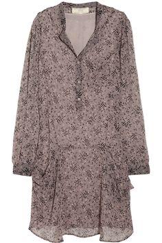 Vanessa Bruno Athé|Printed silk-chiffon shirt dress |