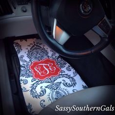 Car+Mats+Personalized/Monogram+Car+by+SassySouthernGals+on+Etsy,+$75.00