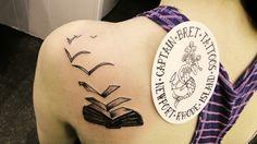 Amazing book tattoo