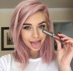 comment below if I should do a pastel pink like this or lavender xx