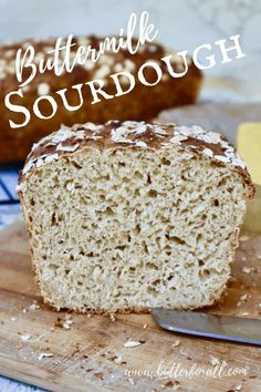 Sweet and Tangy Buttermilk Sourdough with honey and oats is the sliceable sandwich loaf you've been dreaming about! #sourdough #starter #cultured #buttermillk #fermented #rolledoats #honey #loaf #sandwich #baking #rawmilk #butter Sourdough Recipes, Sourdough Bread, Bread Recipes, Real Food Recipes, Cooking Bread, Bread Baking, How To Make Sandwich, Sandwich Loaf, Bread Bowls