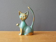 Vintage Brass CAT / Made in USSR / Black Cat / Home by EUvintage