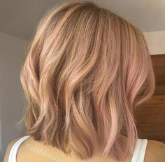 Rose gold highlights by Kelly Massias