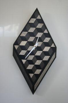 Wall Clock Wooden Clock Wooden Anniversary Gift by EInderDesigns