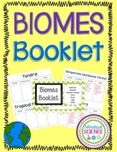 Biomes Booklets How to teach this lesson:  Students will fill in information on weather, temperature, animals, and plants for each biome. For advanced classes, I let students research on the internet to find information.  Vocabulary Terms  Biome Tundra Taiga Grassland Desert Temperate Deciduous Forest Tropical Rainforest