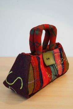 Handbag- Wee Funky Fantoosh via Julia Cunningham handbags, and gifts, made in Scotland. Click on the image to see more!
