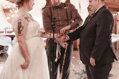 Best Day Ever Tina and Trisha Get Hitched October 17 2015  Pagan handfasting ceremony