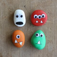 DIY: Pebble Monsters for Halloween #DIY, #Kids, #Monsters, #Pebble