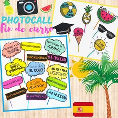 "361 Me gusta, 12 comentarios - Class Ideas (@ideasclaseabc) en Instagram: ""Photocall- Fin de curso 📸☀️🎓. En mi TPT (🔗 link en biografía) Con este recurso podrás realizar un…"" Instagram, Link, Frases, Last Day Of School, Hello Summer, Funny Pics, Souvenirs, Gift, Create"