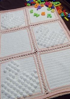 Ravelry: Blanket with Swan Bobble pattern by Thomasina Cummings Designs
